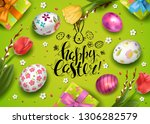 template vector card with... | Shutterstock .eps vector #1306282579