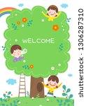 llustration of cartoon... | Shutterstock .eps vector #1306287310
