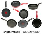 frying pan isolated on white... | Shutterstock . vector #1306294330