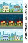 set of three illustrations of... | Shutterstock . vector #1306297150