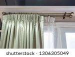 beautiful curtains with ring... | Shutterstock . vector #1306305049