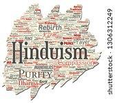 vector conceptual hinduism ... | Shutterstock .eps vector #1306312249
