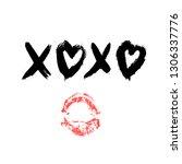 Xoxo Hand Written Phrase And...