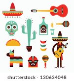 mexico icons | Shutterstock .eps vector #130634048
