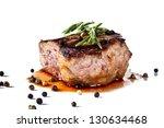 beef steak medium grilled ...   Shutterstock . vector #130634468