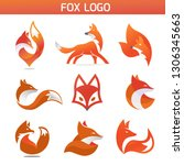 creative fox animal modern... | Shutterstock .eps vector #1306345663