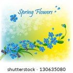 bouquet of spring flowers on... | Shutterstock .eps vector #130635080