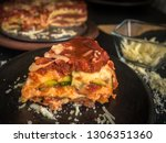 Stock photo homemade italian lasagna with zucchini 1306351360