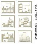 industry icons over white... | Shutterstock .eps vector #130635446