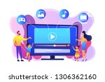 tiny people family with kids... | Shutterstock .eps vector #1306362160