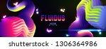 fluid colorful gradient... | Shutterstock .eps vector #1306364986