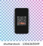 vector illustration of mobile... | Shutterstock .eps vector #1306365049