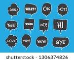 vector bubbles speech set. hand ... | Shutterstock .eps vector #1306374826
