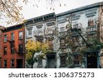 vines on a residential building ... | Shutterstock . vector #1306375273