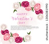 beauty happy valentine's day... | Shutterstock .eps vector #1306381990