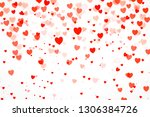 beautiful confetti hearts... | Shutterstock . vector #1306384726