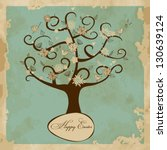vintage greeting card with... | Shutterstock .eps vector #130639124