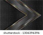abstract dark grey metallic... | Shutterstock .eps vector #1306396396