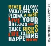 success quote. never allow... | Shutterstock .eps vector #1306399489