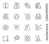 vector set of chemistry concept ... | Shutterstock .eps vector #1306399693