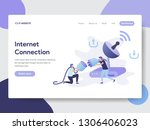 landing page template of... | Shutterstock .eps vector #1306406023