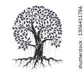 Tree Vector Illustration. Root...