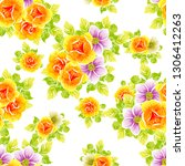 abstract seamless pattern with... | Shutterstock .eps vector #1306412263