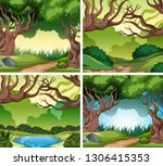 set of nater landscape... | Shutterstock .eps vector #1306415353