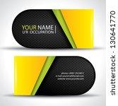 modern vector business card  ... | Shutterstock .eps vector #130641770