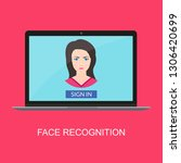 face recognition technology.... | Shutterstock .eps vector #1306420699