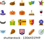 color flat icon set  ... | Shutterstock .eps vector #1306431949