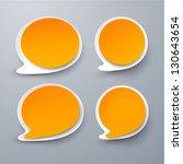 vector illustration of paper... | Shutterstock .eps vector #130643654