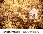 the symbol of the house among... | Shutterstock . vector #1306441879