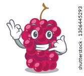 call me mulbery fruit isolated... | Shutterstock .eps vector #1306445293