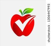 best apple vector | Shutterstock .eps vector #1306447993