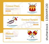 carnival banner collection with ... | Shutterstock .eps vector #1306449130