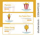carnival banner collection with ... | Shutterstock .eps vector #1306449133