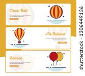 carnival banner collection with ... | Shutterstock .eps vector #1306449136