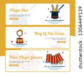 carnival banner collection with ... | Shutterstock .eps vector #1306449139