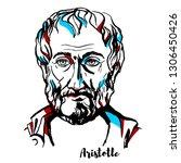 Aristotle Engraved Vector...