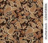 paisley pattern. seamless asian ... | Shutterstock .eps vector #1306458886