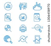 data analysis flat line icons.... | Shutterstock .eps vector #1306458970