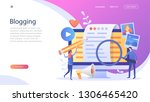 blogger  blog content  blogging ... | Shutterstock .eps vector #1306465420