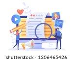 blogger  blog content  blogging ... | Shutterstock .eps vector #1306465426