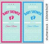 set of baby shower invitation... | Shutterstock .eps vector #1306465639