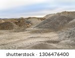 spoil heap scenery at a quarry... | Shutterstock . vector #1306476400