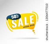 super sale  mega. this weekend... | Shutterstock .eps vector #1306477510