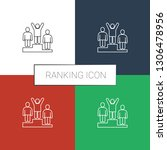 ranking icon white background.... | Shutterstock .eps vector #1306478956