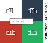 ranking icon white background.... | Shutterstock .eps vector #1306484950