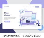 landing page template of data... | Shutterstock .eps vector #1306491130